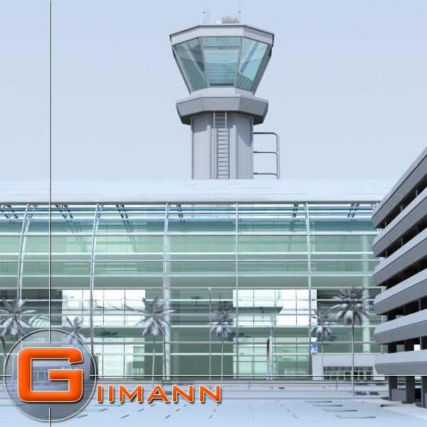 3d model of airport airbus