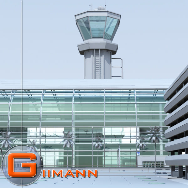 3d model of airport airbus