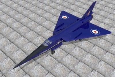 research fairey delta 2 3d model