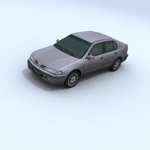 3d model nissan primera vehicle car