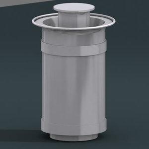 dustbin bin 3d model