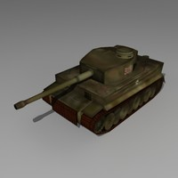 german tiger tank 3d model