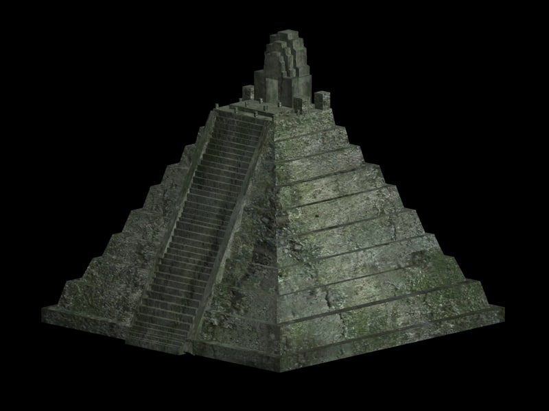 aztec temple pyramid 3d 3ds