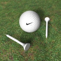 Nike golf ball with tees