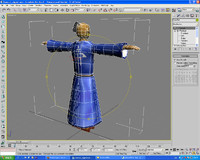 rigged samurai warrior 3d max