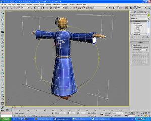 rigged samurai warrior 3d max