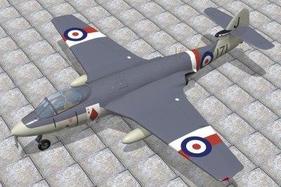 hawker sea hawk jet 3d model
