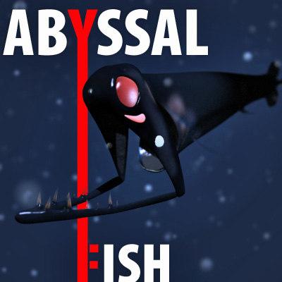 stoplights loosejaw - fish 3d model