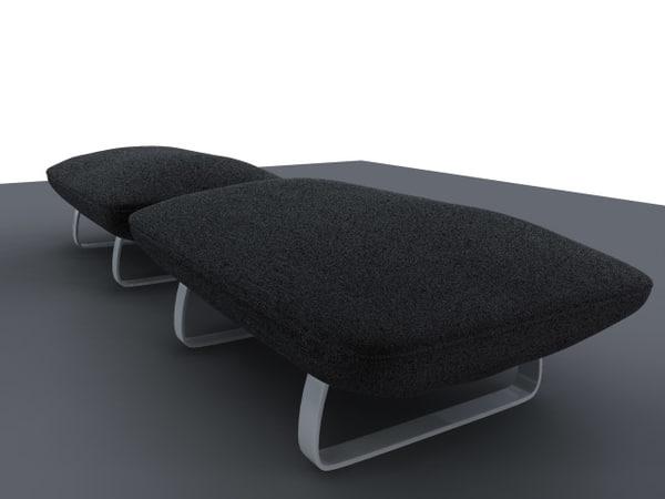 3d obj pouf sofa
