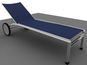 exterior chaise long 3d model
