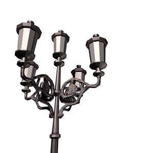 3d model ornamental street lamp 5