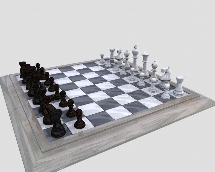 3d model chess