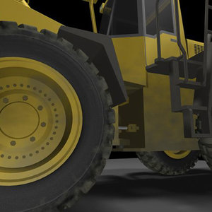 wheel loader 3d 3ds