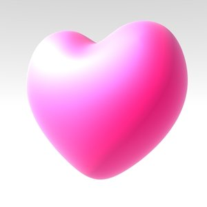 heart loveheart 3d model