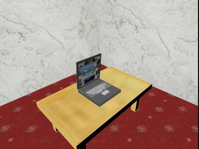 free 3ds model laptop blender