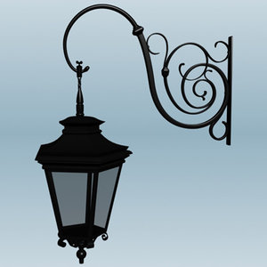 old fashioned street lamp x