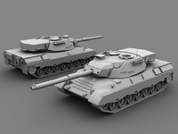 3d leopard c2 tank