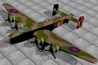 3d model handley page halifax bomber