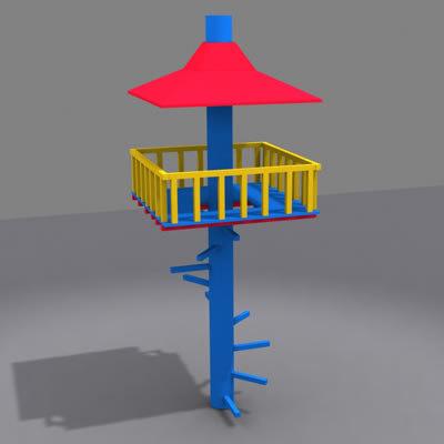 playground tower 3d model