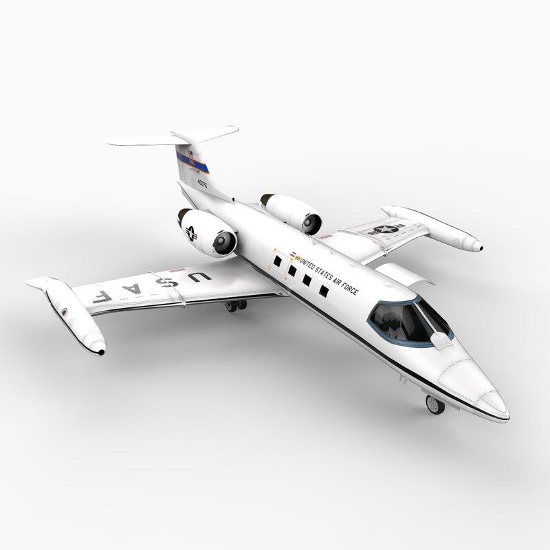 c21a lear jet air force 3d model