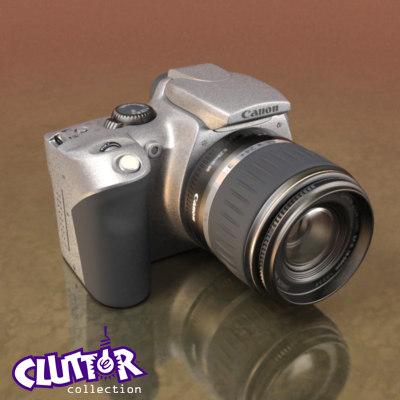 canon digital rebel camera lens 3d max