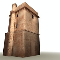 old cathedral cadiz 3d max