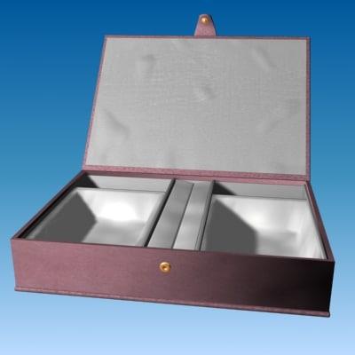 jewellery box - brown 3d model