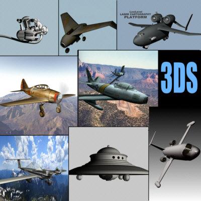 3d 3ds aircraft fighter plane