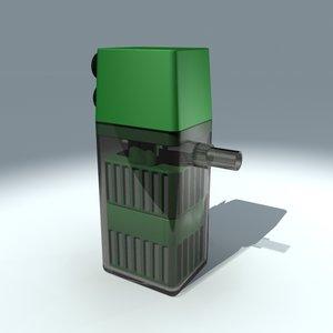 fish tank filter 3d max