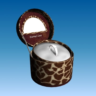 ring holder jewellery box 3d model
