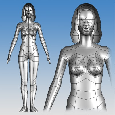 female character v5 3d model