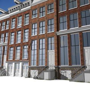 buildings amsterdam architecture 3d model