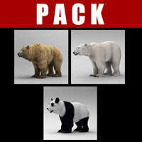 3ds max animation bear pack