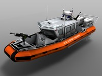 3d coast guard rb-hs boat model