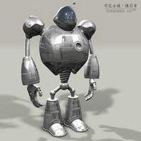free robot hdr 3d model