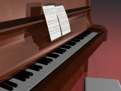 piano musical 3d max