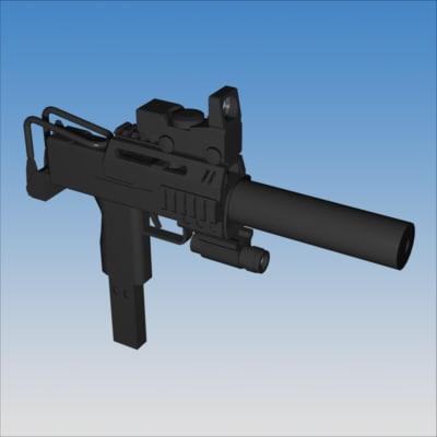 tactical smg 3d model