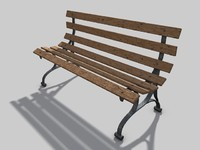 Park Bench (Cinema 4D)
