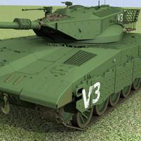 Tank Merkava II Mental Ray