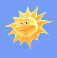 cartoon sun 3d model