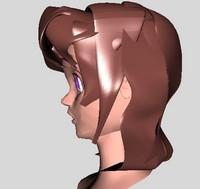 free head manga character 3d model