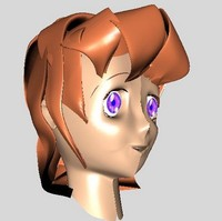 free manga head character 3d model