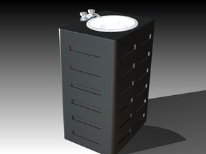 3ds max solid sink