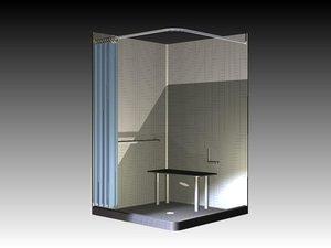 3d inventor ipt shower model