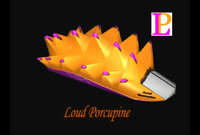 3d model loud porcupine