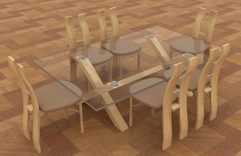 table chairs 3d max