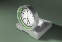 modern clock 3d 3ds