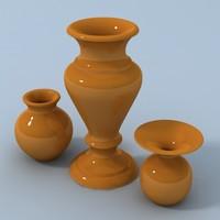 3d vase interiors stack model