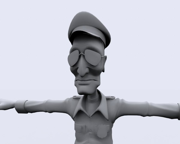 security guard character 3d ma
