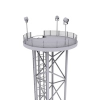 3d model of high-poly tower